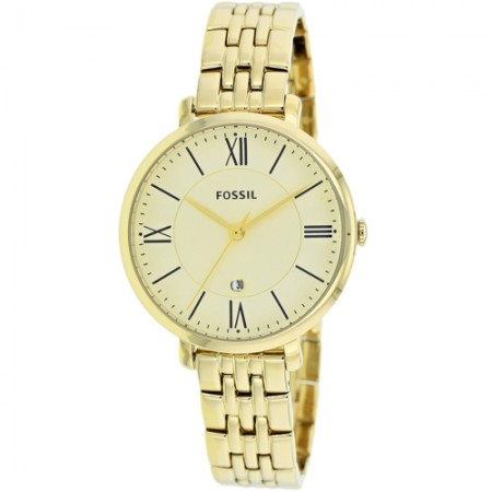 Women's Jacqueline Champagne Dial Gold-Tone Stainless Steel Band Quartz Watch