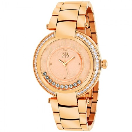 Women's Celebrate Rose Gold-Tone Dial Rose Gold-Tone Stainless Steel Band Swiss Parts Quartz Watch