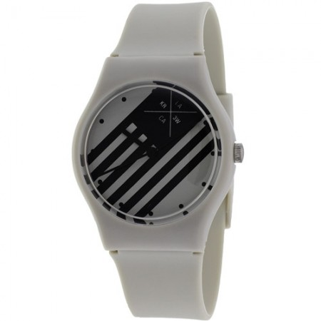Women's Freshman Grey Dial Grey Rubber Band Quartz Watch
