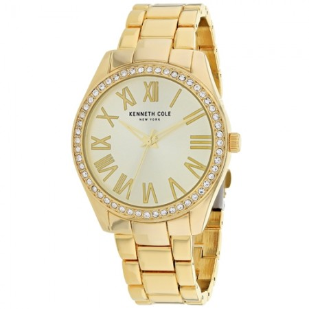 Women's Classic Gold-Tone Dial Gold-Tone Stainless Steel Band Quartz Watch
