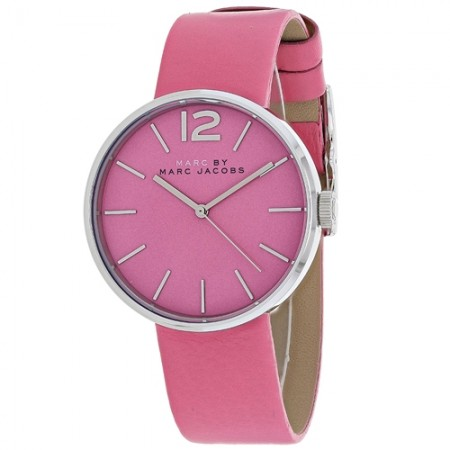 Women's Peggy Pink Dial Brown Leather Band Quartz Watch