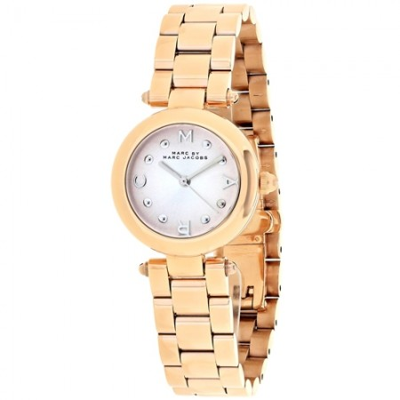 Women's Dotty Pink Dial Rose Gold-Tone Stainless Steel Band Quartz Watch