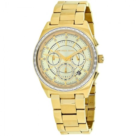 Women's Vail Gold-Tone Dial Gold-Tone Stainless Steel Band Quartz Watch