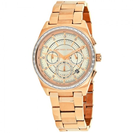 Women's Vail Rose Gold-Tone Dial Rose Gold-Tone Stainless Steel Band Quartz Watch