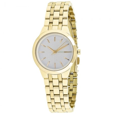 Women's Park Slope Gun Metal Dial Gold-Tone Stainless Steel Band Quartz Watch