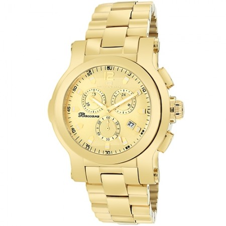 Men's Baccara Gold-Tone Dial Gold-Tone Stainless Steel Band Quartz Watch