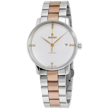 Women's Coupole Gun Metal Dial Gun Metal, Rose Gold Tone Band Automatic Watch