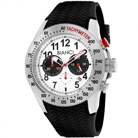 Men's Classico Gun Metal Dial Black Silicone Band Quartz Watch