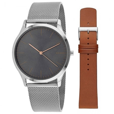 Men's Classic Brown Dial Gun Metal Band Quartz Watch