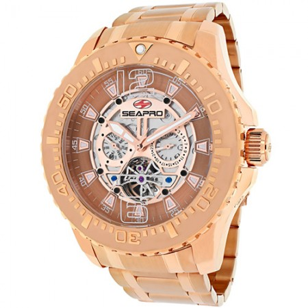 Men's Tidal Px1 Rose Gold-Tone Dial Rose Gold-Tone Stainless Steel Band Automatic Watch