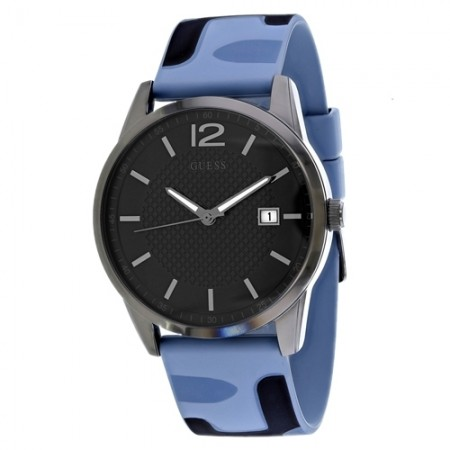 Men's Perry Camo Grey Dial Black Rubber Band Quartz Watch