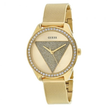 Women's Glitz Gold-Tone Dial Gold-Tone Stainless Steel Band Quartz Watch