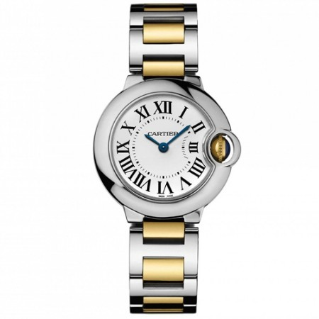Women's Ballon Bleu Gun Metal Dial Gold-Tone Stainless Steel Band Swiss Quartz Watch