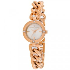 Women's Sultry Gun Metal Dial Rose Gold-Tone Stainless Steel Band Swiss parts Quartz Watch