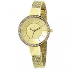 Women's Reign Gold-Tone Dial Gold-Tone Stainless Steel Band Quartz Watch