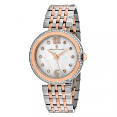 Women's Jasmine White Dial Rose Gold-Tone Stainless Steel Band Quartz Watch