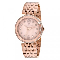 Women's Jasmine Rose Gold-Tone Dial Rose Gold-Tone Stainless Steel Band Quartz Watch