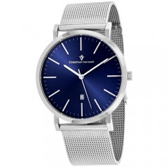 Men's Paradigm Blue Dial Gun Metal Stainless Steel Band Quartz Watch