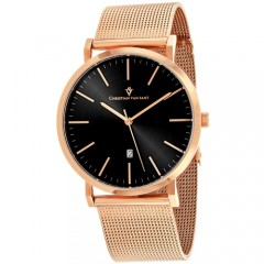 Men's Paradigm Black Dial Rose Gold-Tone Stainless Steel Band Quartz Watch