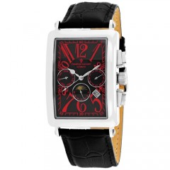 Men's Prodigy Black Dial Black Leather Band Automatic Watch