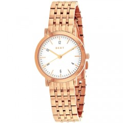 Women's Minetta White Dial Rose Gold-Tone Stainless Steel Band Quartz Watch