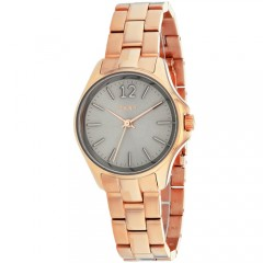 Women's Eldridge Grey Dial Rose Gold-Tone Stainless Steel Band Quartz Watch