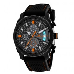 Men's Kryptonite Black And Grey Dial Black Rubber Band Quartz Watch