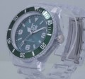 Men's Ice-Pure Big Forest Green Dial Translucent Plastic Watch